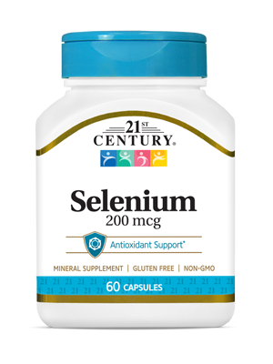 Selenium 200 mcg by 21st Century HealthCare, Inc., view from the front.