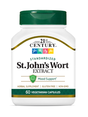 St. John's Wort Extract by 21st Century HealthCare, Inc., view from the front.