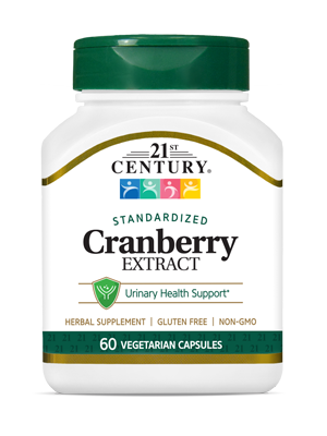 Cranberry Extract by 21st Century HealthCare, Inc., view from the front.