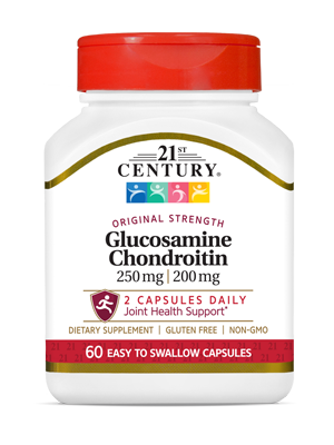 Glucosamine Chondroitin Original Strength by 21st Century HealthCare, Inc., view from the front.