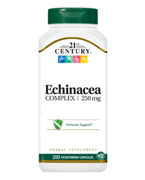 Echinacea Complex 250 mg by 21st Century HealthCare, Inc., view from the front.
