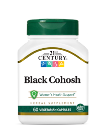 Black Cohosh by 21st Century HealthCare, Inc., view from the front.