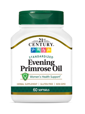Evening Primrose Oil by 21st Century HealthCare, Inc., view from the front.