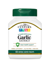 Garlic Extract by 21st Century HealthCare, Inc., view from the front.