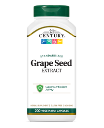 Grape Seed Extract by 21st Century HealthCare, Inc., view from the front.