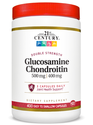 Glucosamine Chondroitin Double Strength by 21st Century HealthCare, Inc., view from the front.
