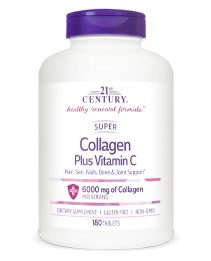 Super Collagen Plus Vitamin C by 21st Century HealthCare, Inc., view from the front.