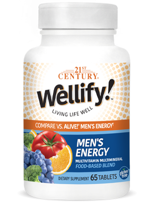 Wellify Mens Energy by 21st Century HealthCare, Inc., view from the front.