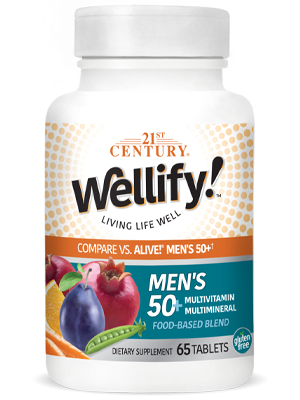 Wellify Mens 50+ by 21st Century HealthCare, Inc., view from the front.