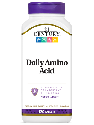 Daily Amino Acid by 21st Century HealthCare, Inc., view from the front.