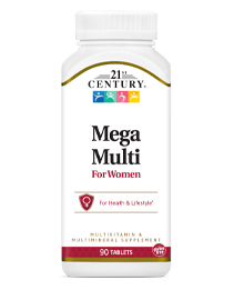 Mega Multi for Women by 21st Century HealthCare, Inc., view from the front.