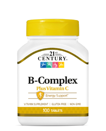B Complex Plus C by 21st Century HealthCare, Inc., view from the front.