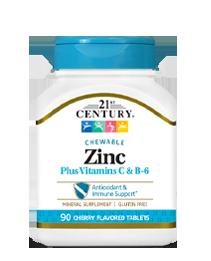 Zinc Chewable Plus Vitamins C & B-6 Cherry
