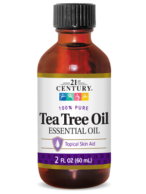 Tea Tree Oil by 21st Century HealthCare, Inc., view from the front.