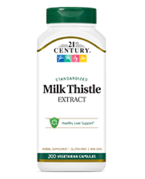 Milk Thistle Extract  by 21st Century HealthCare, Inc., view from the front.