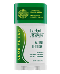 Herbal Clear® Naturally Aloe Fresh by 21st Century HealthCare, Inc., view from the front.