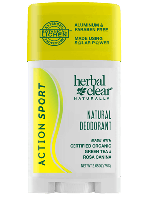 Herbal Clear® Naturally Action Sport by 21st Century HealthCare, Inc., view from the front.