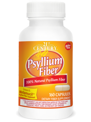 Psyllium Fiber by 21st Century HealthCare, Inc., view from the front.