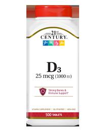 Vitamin D3 25 mcg