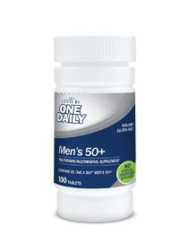 One Daily Men's 50+ by 21st Century HealthCare, Inc., view from the front.
