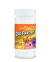 Zoo Friends® with Extra C  by 21st Century HealthCare, Inc., view from the front.