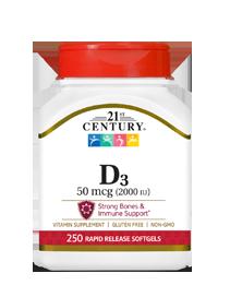 Vitamin D3 50 mcg