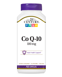 Co Q-10 by 21st Century HealthCare, Inc., view from the front.