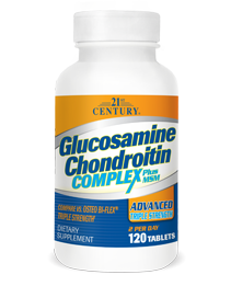 Glucosamine Chondroitin Complex Plus MSM - Advanced Triple Strength by 21st Century HealthCare, Inc., view from the front.