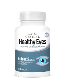 Healthy Eyes Lutein & Antioxidants by 21st Century HealthCare, Inc., view from the front.