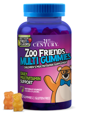 Zoo Friends® Multi Gummies  by 21st Century HealthCare, Inc., view from the front.