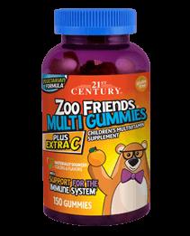 Zoo Friends® Multi Gummies Plus Extra C