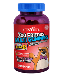 Zoo Friends® Multi Gummies Plus Extra D