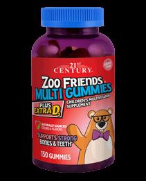 Zoo Friends® Multi Gummies Plus Extra D