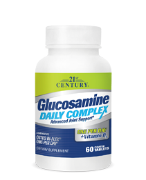 Glucosamine Daily Complex by 21st Century HealthCare, Inc., view from the front.