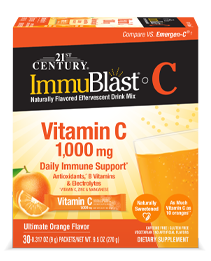 ImmuBlast®-C Ultimate Orange by 21st Century HealthCare, Inc., view from the front.