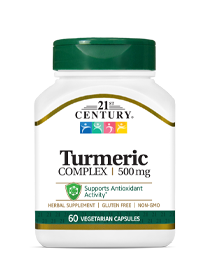 Turmeric Complex by 21st Century HealthCare, Inc., view from the front.