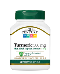 Turmeric 500 mg Plus Black Pepper Extract