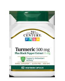 Turmeric 500 mg Plus Black Pepper Extract