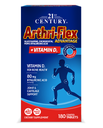 Arthri-Flex® Advantage Plus Vitamin D3 by 21st Century HealthCare, Inc., view from the front.