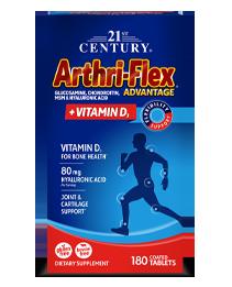 Arthri-Flex® Advantage Plus Vitamin D3 by 21st Century HealthCare, Inc., view from the front.