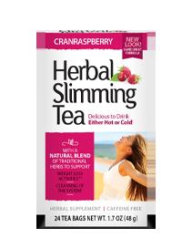 Herbal Slimming Tea - CranRaspberry Tea Bags