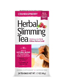 Herbal Slimming Tea CranRaspberry by 21st Century HealthCare, Inc., view from the front.