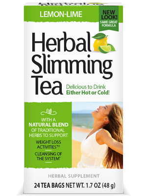 Herbal Slimming Tea Lemon-Lime by 21st Century HealthCare, Inc., view from the front.