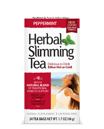 Herbal Slimming Tea Peppermint by 21st Century HealthCare, Inc., view from the front.