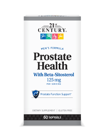 Prostate Health by 21st Century HealthCare, Inc., view from the front.