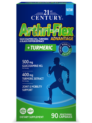 Arthri-Flex® Advantage Plus Turmeric by 21st Century HealthCare, Inc., view from the front.