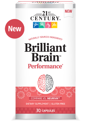 Brilliant Brain™ Performance* by 21st Century HealthCare, Inc., view from the front.